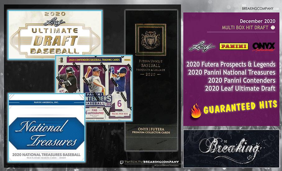 2020 Futera/Panini/Leaf Baseball   Hit Draft