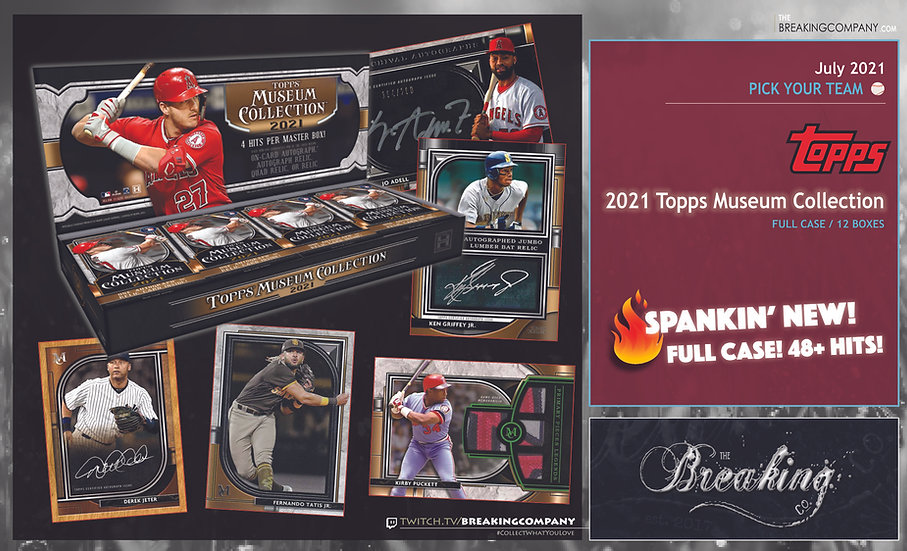 2021 Topps Museum Collection 12-Box Case | PYT (Pick Your Team)