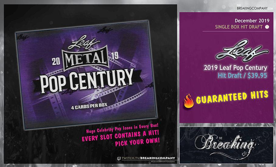 2019 Leaf Pop Century Hit Draft