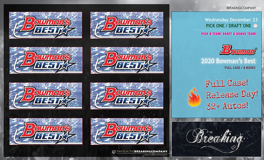 2020 Bowman's Best 8-Box Case | P1D1