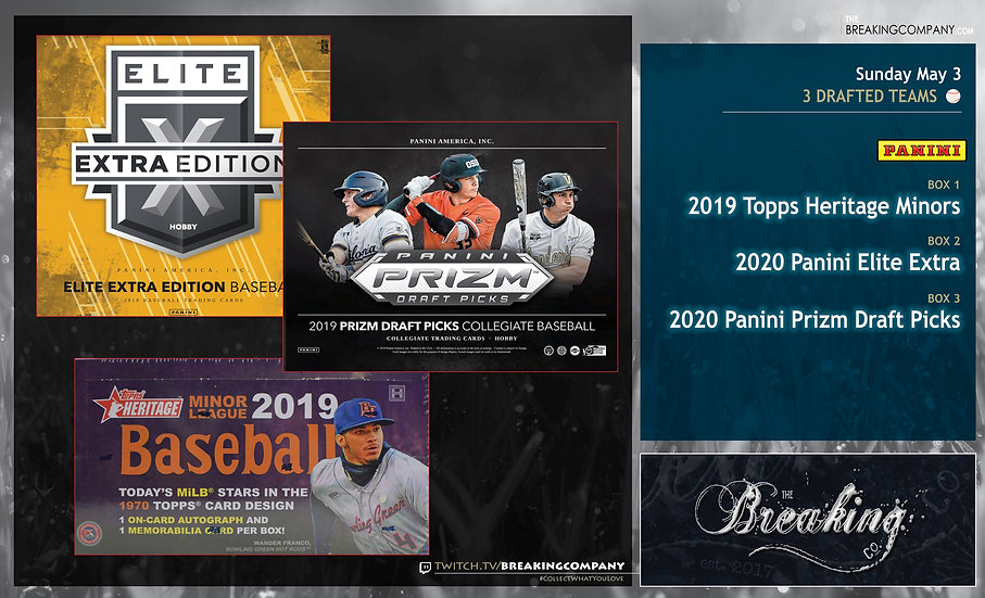2019 Topps Heritage Minors / Panini Elite Extra / Prizm Draft Picks