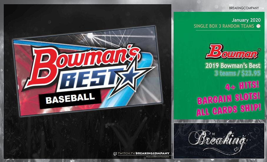 2019 Bowman's Best Single Box Random Teams