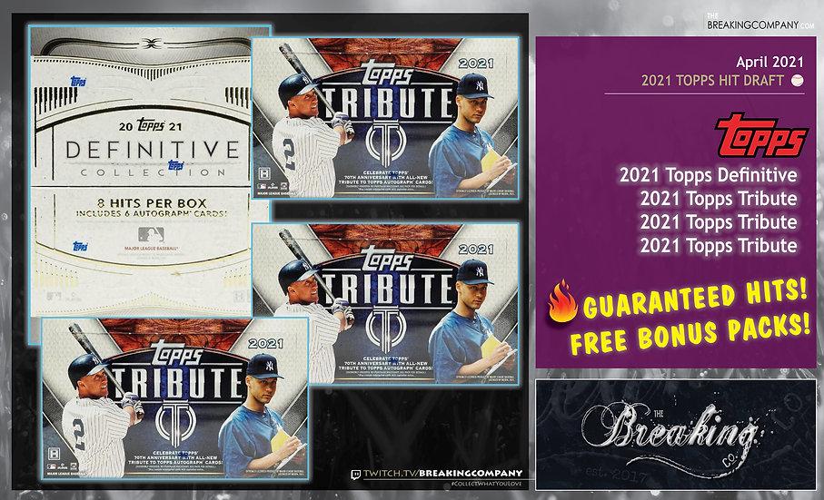 2021 Topps Definitive/Tribute Baseball Multi-Box | Hit Draft