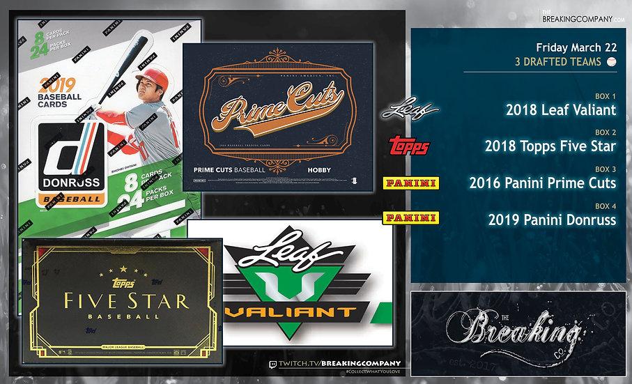 3/22: Valiant / Five Star / Prime Cuts / Donruss