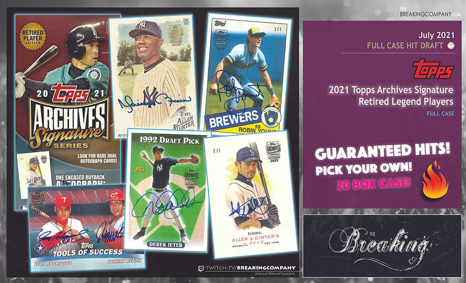 2021 Topps Archives Signature Series Legend Retired 20-Box Case | Hit Draft