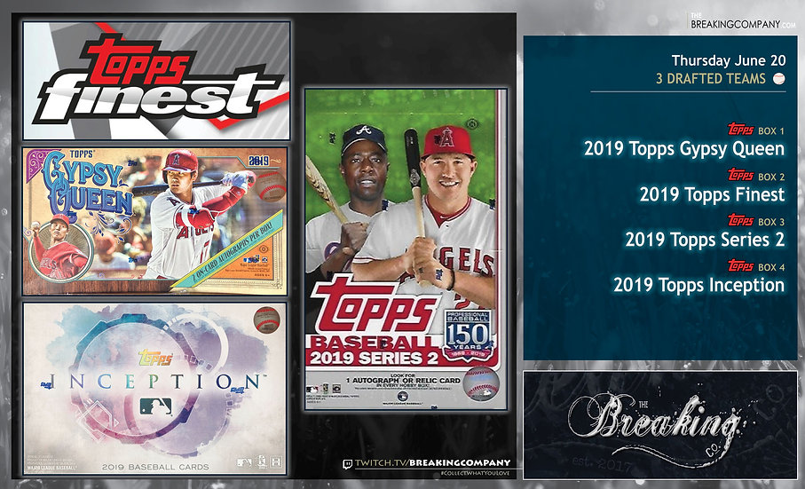 6/20: Gypsy Queen / Finest / Series 2 / Inception