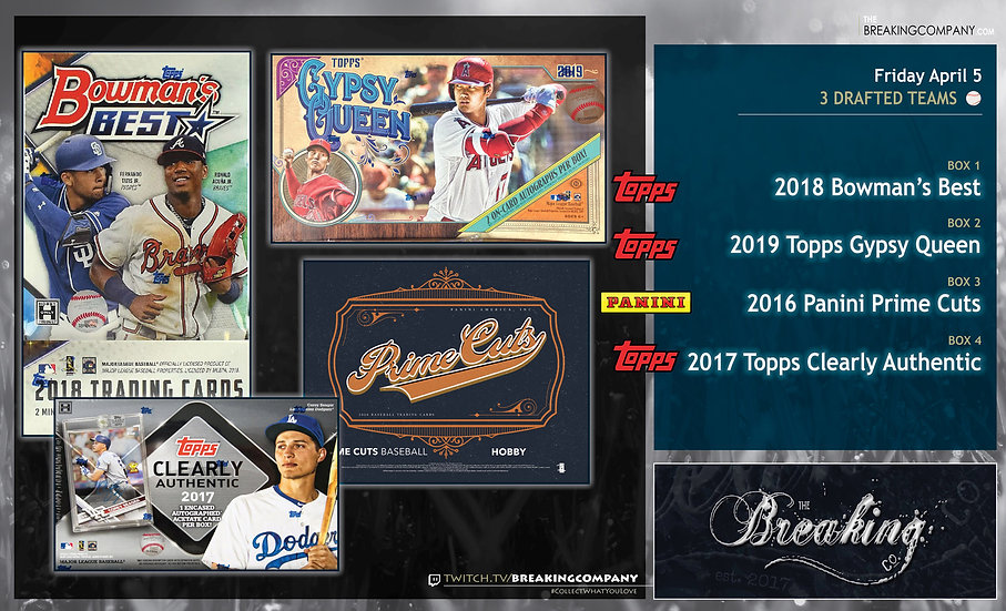 4/5: Bowman's Best / Gypsy Queen / Prime Cuts / Clearly Authentic