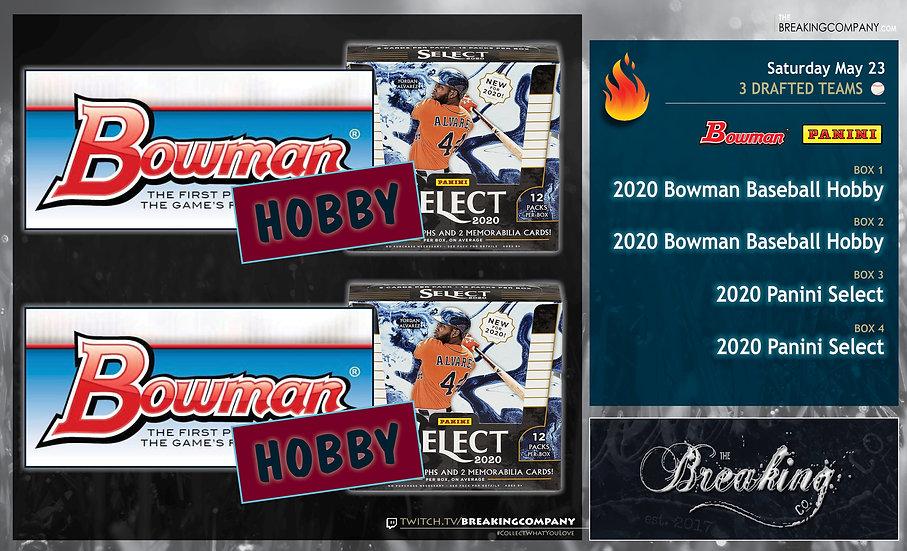 2020 Bowman / Panini Select | 3-Team Draft