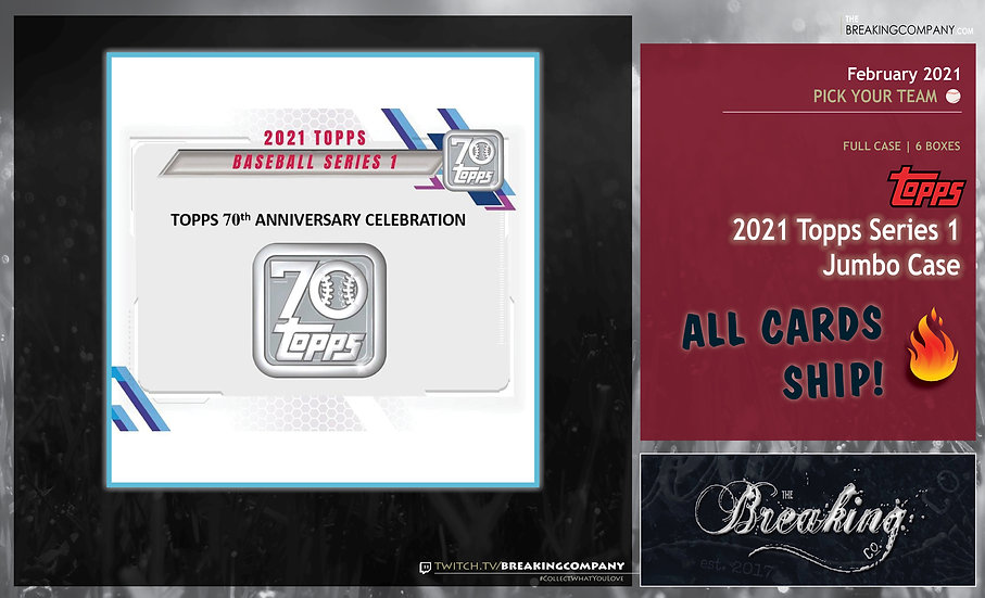 2021 Topps Series 1 Jumbo Case | PYT (Pick Your Team)