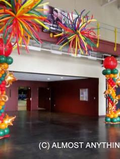 multi-colored step arches