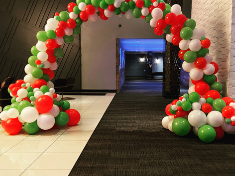 Organic Christmas arch