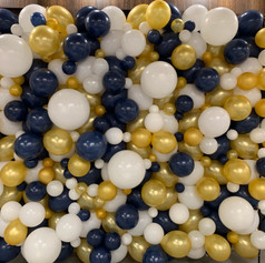 Gold, Blue, and White Organic