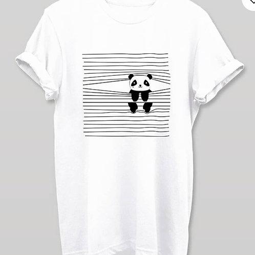 Peeping panda tshirt