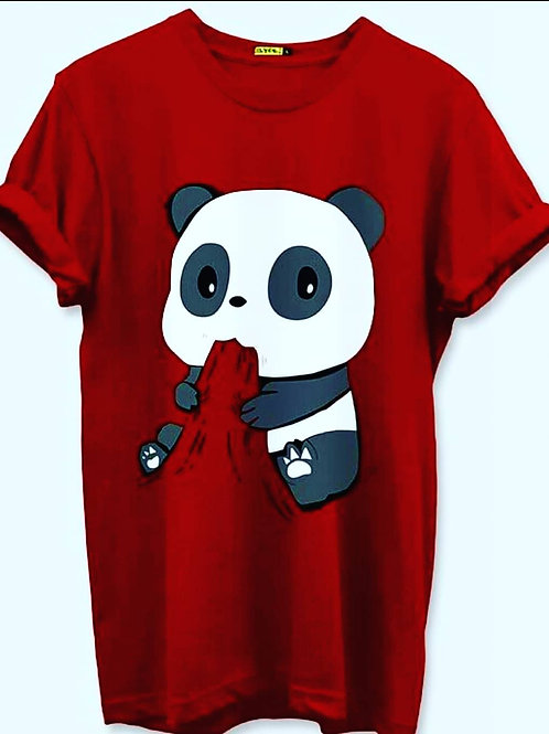 Panda tshirt ( red )