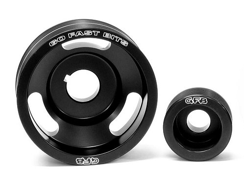 2-piece underdrive pulley kit (Crank and alternator pulleys & belts.