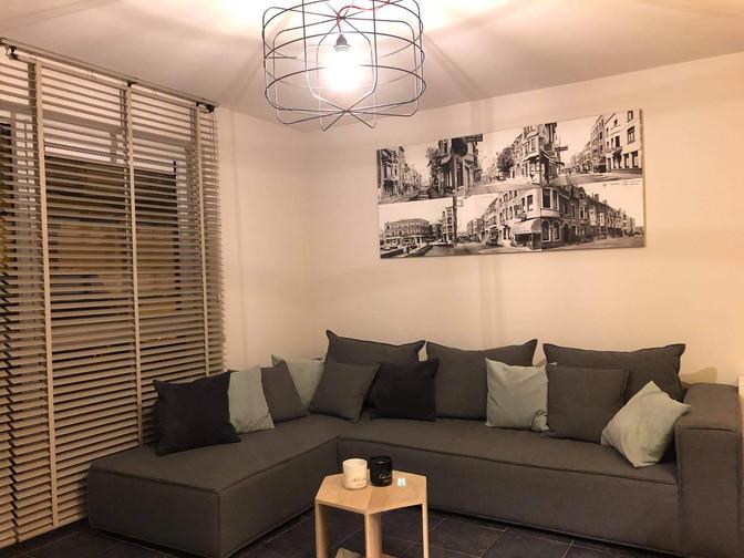 Woonkamer appartement Zeewinde Bredene