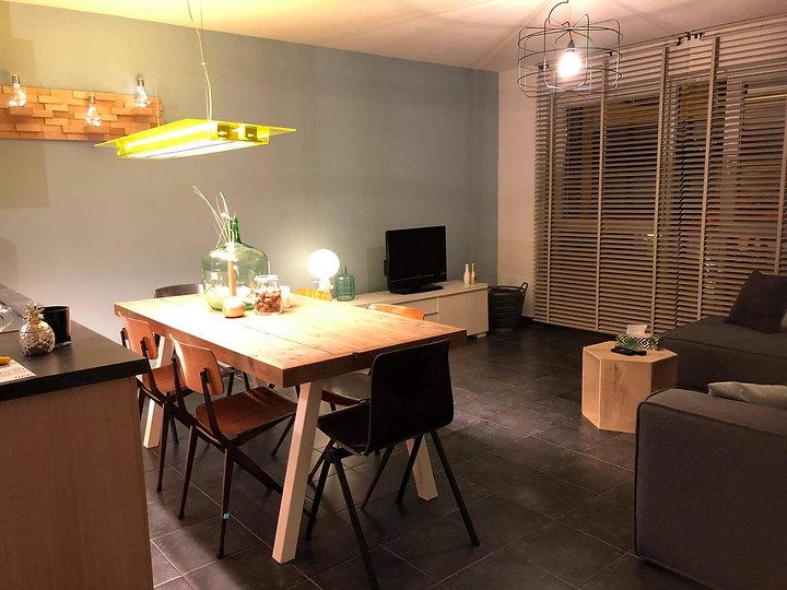 Interieur woonkamer appartement Zeewinde Bredene