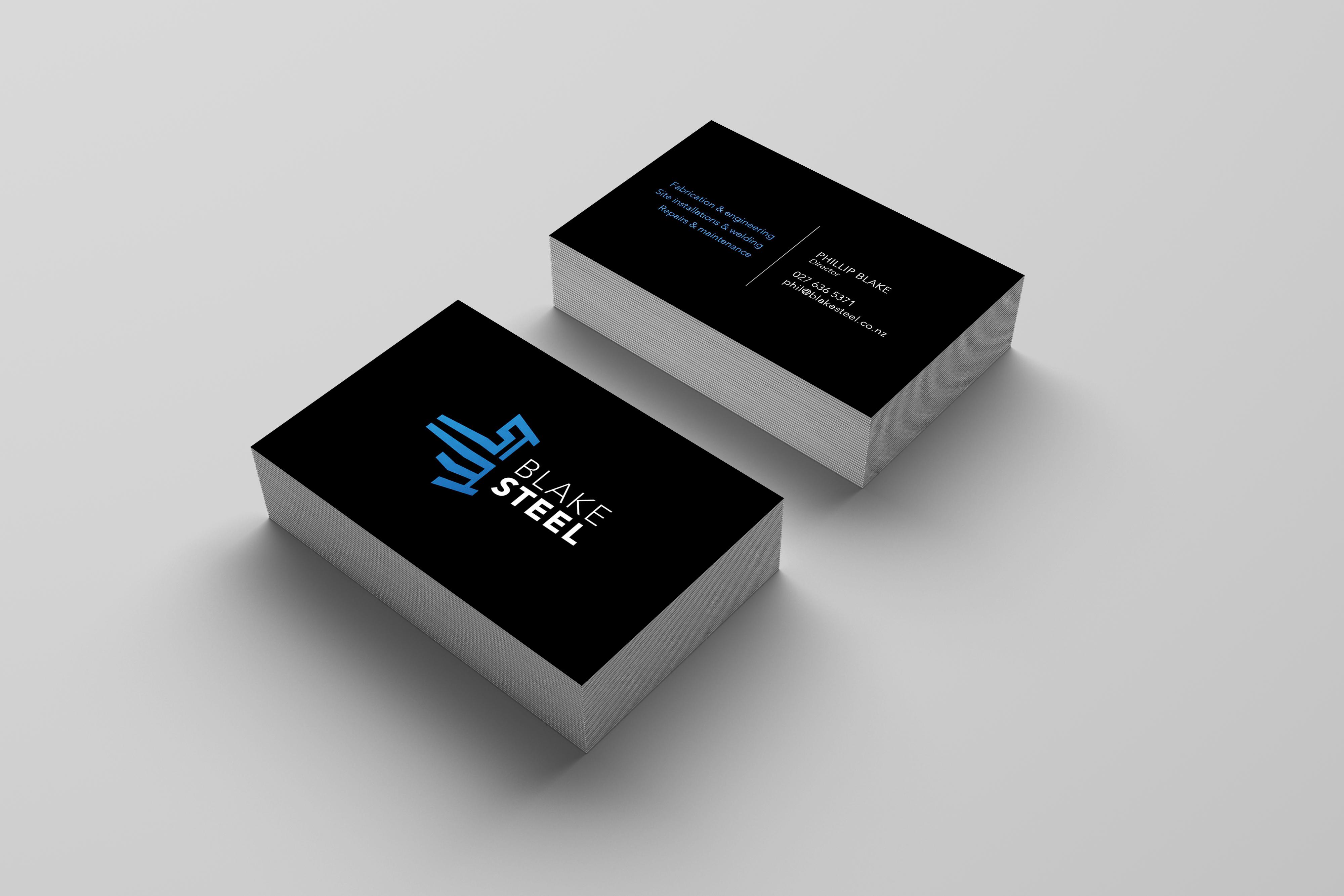 Blake Steel Business Card