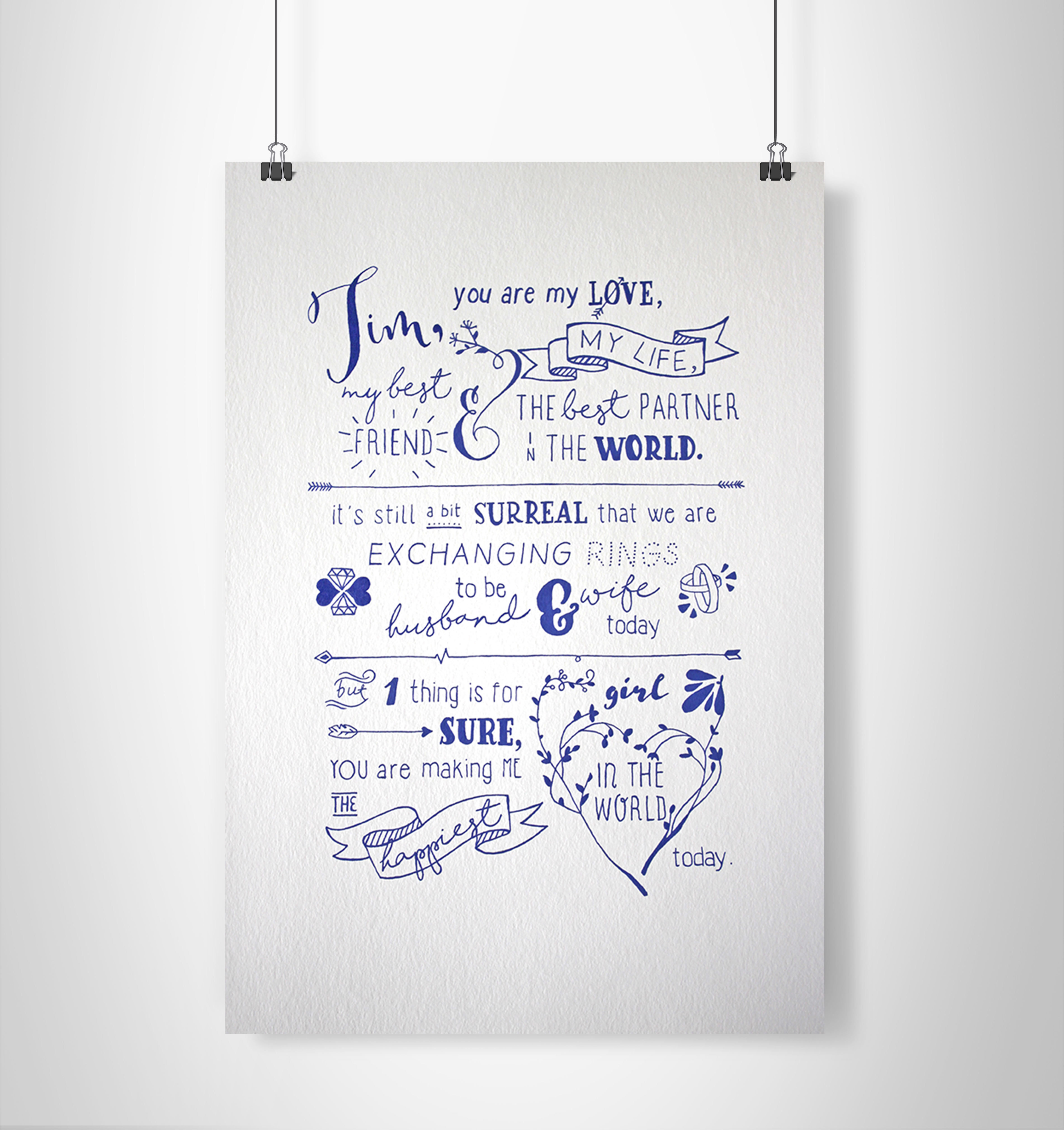 Typography | Vows