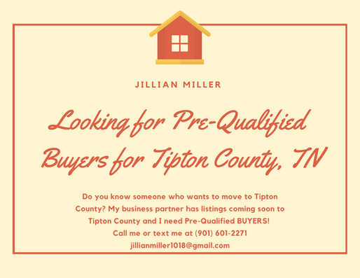 BUYERS Needed For TIPTON COUNTY, TN Homes