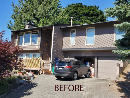 Adding Swagger: Exterior Paint BEFORE and AFTER