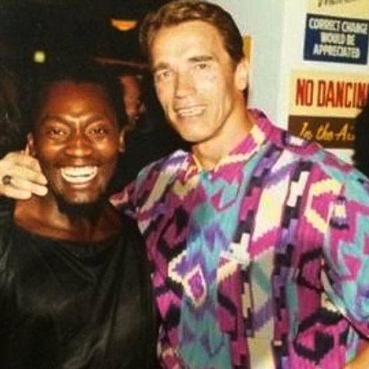 Ian Dowe and Arnold Schwarzenegger