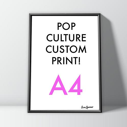 Custom Art Print (A4) Pop Culture Stars