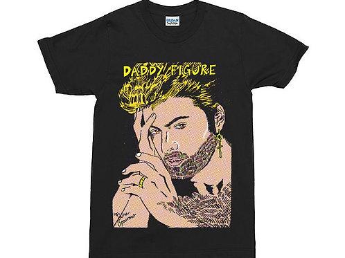 "George Michael ""Daddy Figure"" Black T-Shirt"