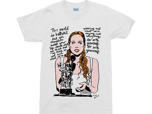 "Fiona Apple VMA ""This World Is Bulls***"" Speech White T-Shirt"