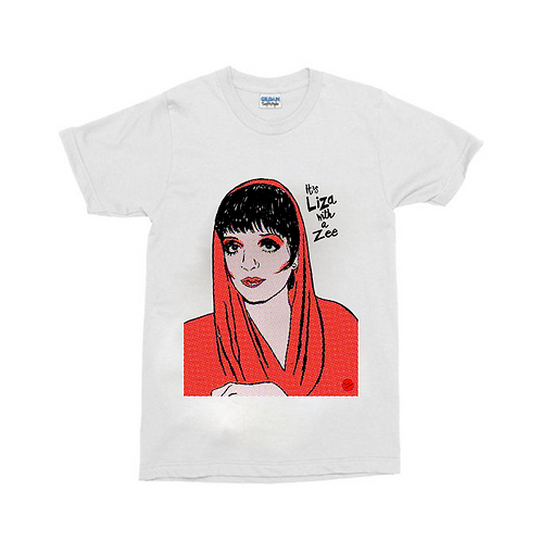 "Liza Minnelli ""Liza with a Zee"" White T-Shirt"