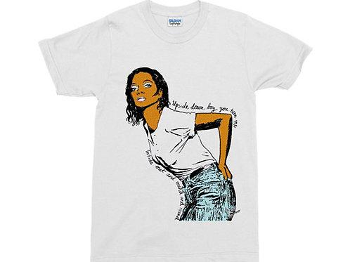 "Disco Diana Ross ""Upside Down"" White T-Shirt"