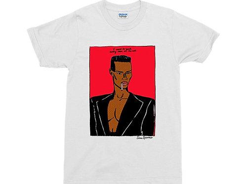 Grace Jones White T-Shirt
