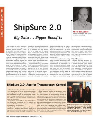 Maritime Reporter August 2018 (Page image reproduced with permission)