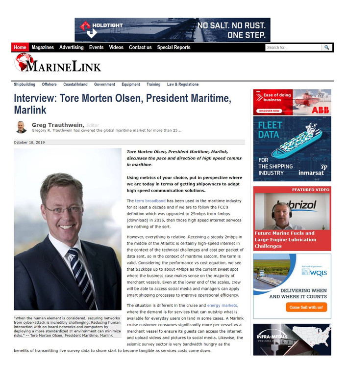 Marinelink.com October 2019 (Page image reproduced with permission)