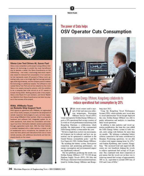Maritime Reporter December 2019 (Page image reproduced with permission)
