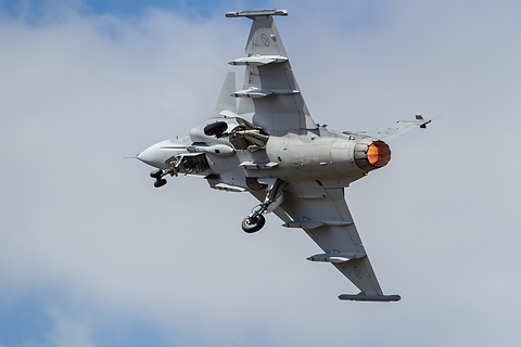Swedish Gripen take-off
