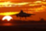 F-15 Eagle into the Sun