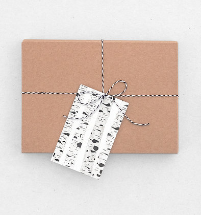 Geschenkanhänger Set | Birken