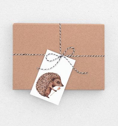 Geschenkanhänger Set | Igelküche (Suppenlöffel)