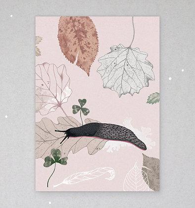 Postkarte | Schwarzer Schnegel