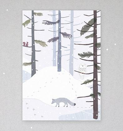 Postkarte | Winterland