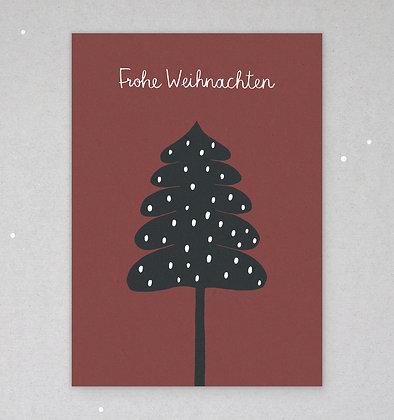 Postkarte | Wintertanne | Purpur