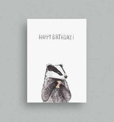 Postkarte   Dachs Birthday