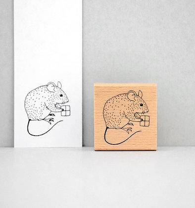 Stempel | Maus mit Geschenk
