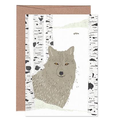 Klappkarte | Wolf