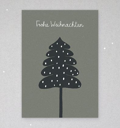 Postkarte | Wintertanne | Moos