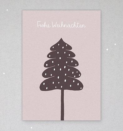 Postkarte   Wintertanne   Rosé