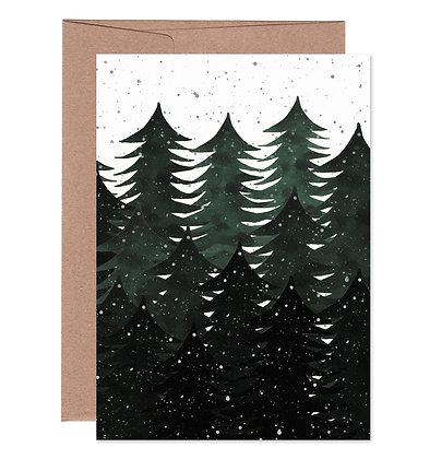 Klappkarte | Wald