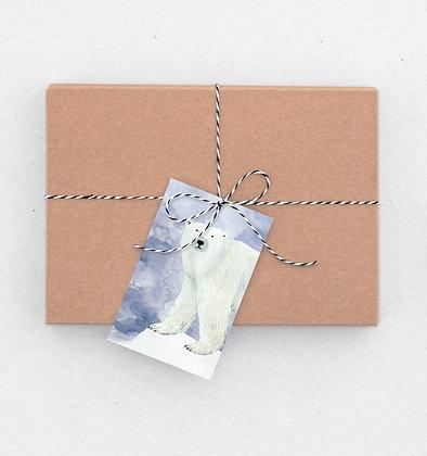 Geschenkanhänger Set | Polarbär