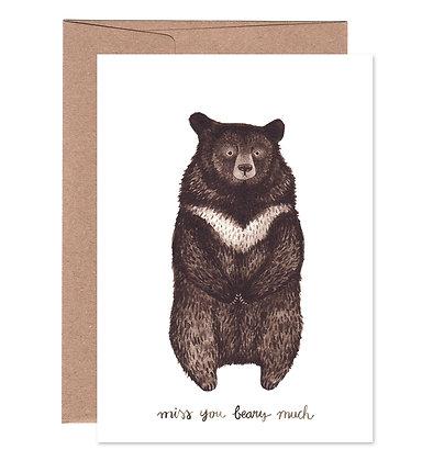 Klappkarte | Kragenbär
